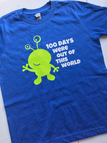 100 DAYS OF SCHOOL ALIEN