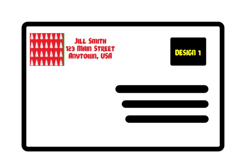 Holiday Return Mailing Address Labels