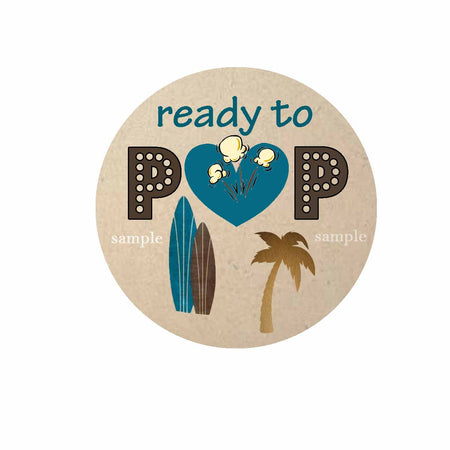 Surfing, Ready to Pop Gift Tag, Surf