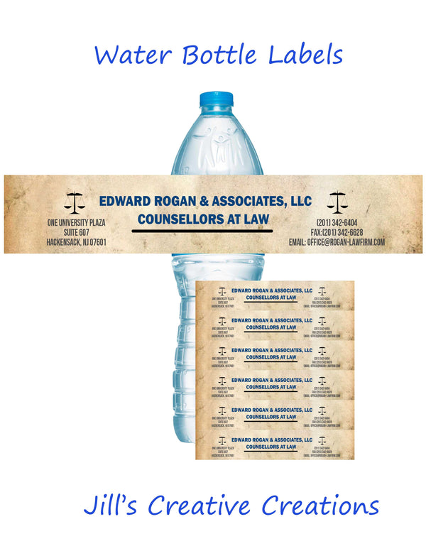 Business Water Bottle Labels