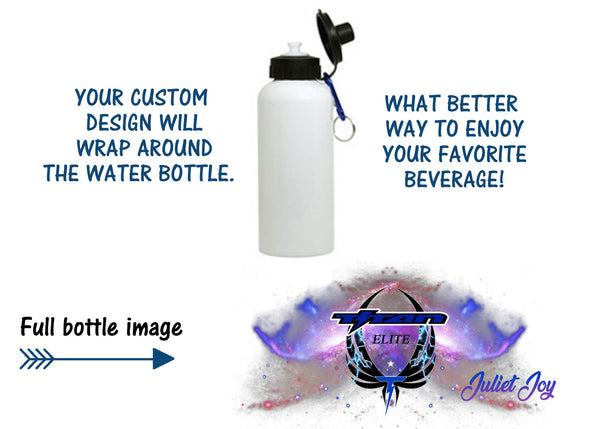 Titan Lightning Personalized water bottle or mug