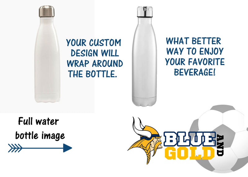 Soccer Water Bottle, Vikings, Sport bottle