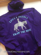 Horse Personalized Hooded Zip Up Sweatshirts
