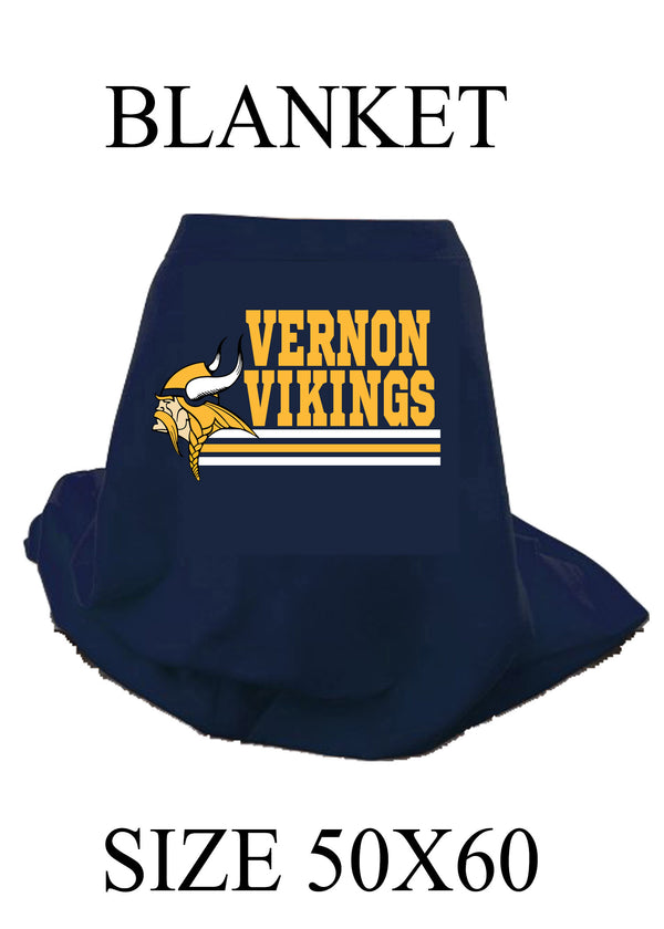 Vernon Vikings Blanket, Viking stripes