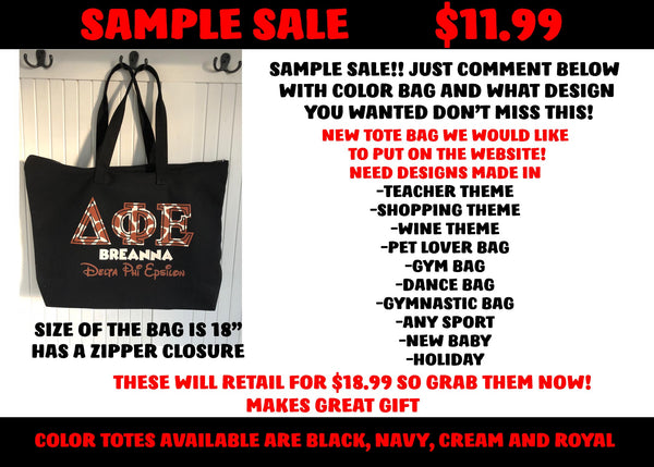 SAMPLE SALE TOTE BAGS