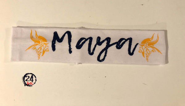 Personalized School Spirit Headband. Cedar