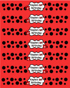 Ladybug water bottle labels, Ladybugs