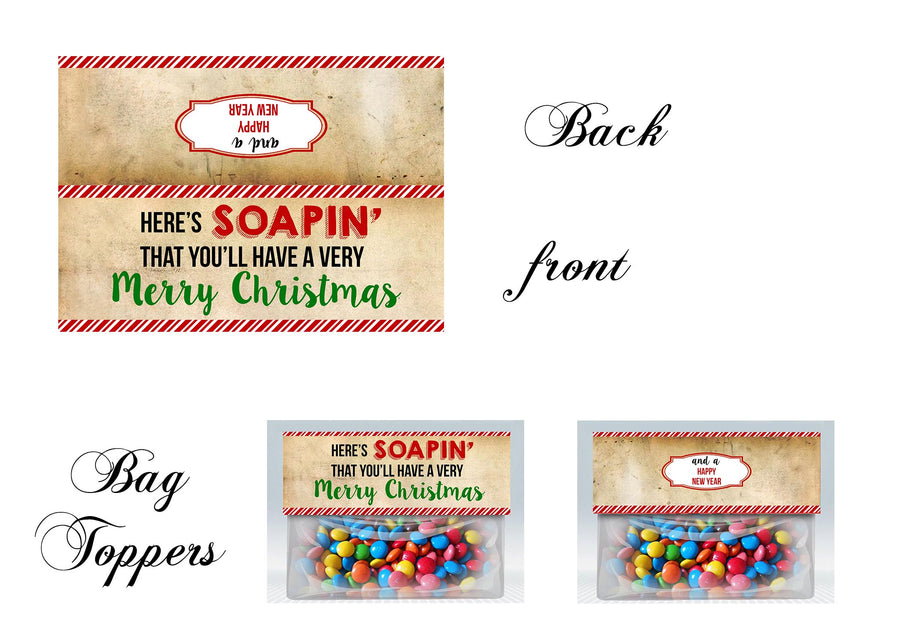Christmas bag toppers, teacher gift, Soap