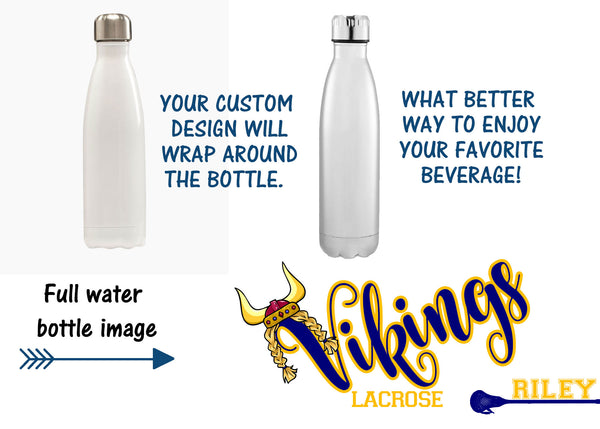 Lacrosse Water Bottle, Vikings Sport bottle