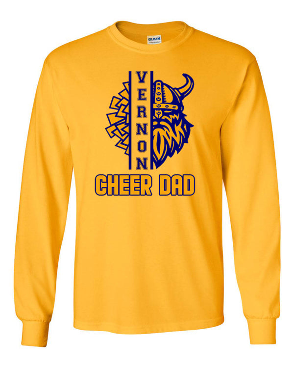 Vernon Cheer Design 3 Long Sleeve, GOLD
