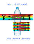 Cheerleading water bottle labels