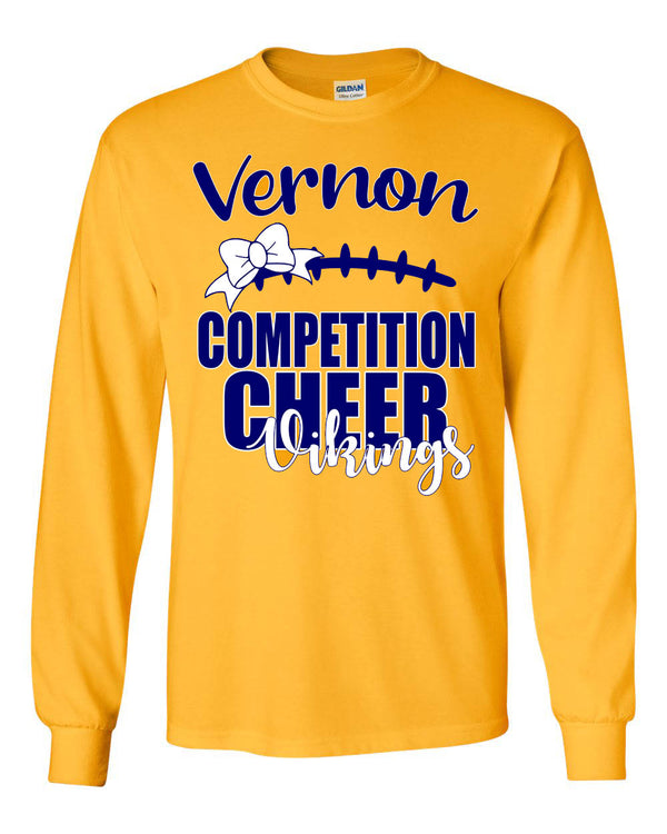 Comp Cheer 2019 Gold long sleeve shirt