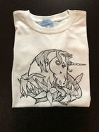 Unicorn Coloring T-shirt, Party Favor, unicorns