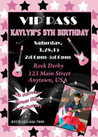 Rock and Roll Birthday Invitation