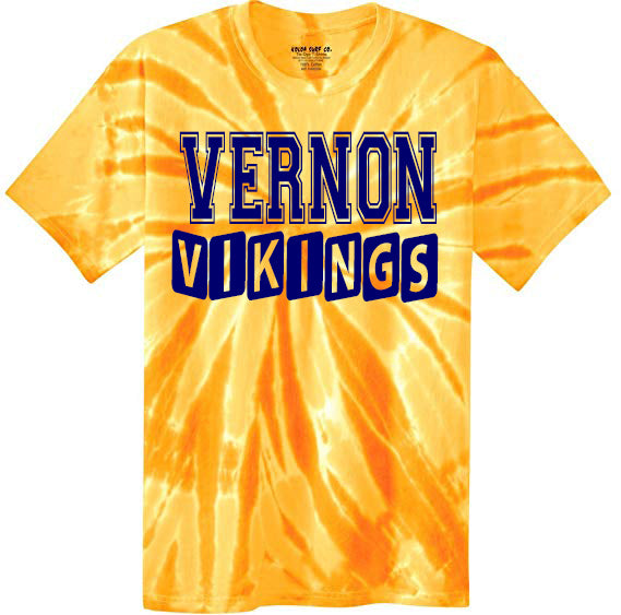 Tie Dye Viking Cheer Shirt, DESIGN 5