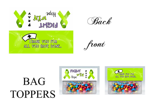 Awareness Bag toppers, Gift tags