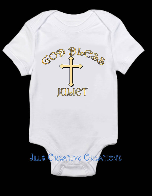 Gold Baptism, God Bless Shirt