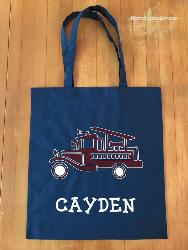 Fire Engine Tote Bag, Firetrucks