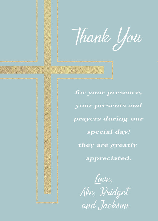 Cross Thank you card