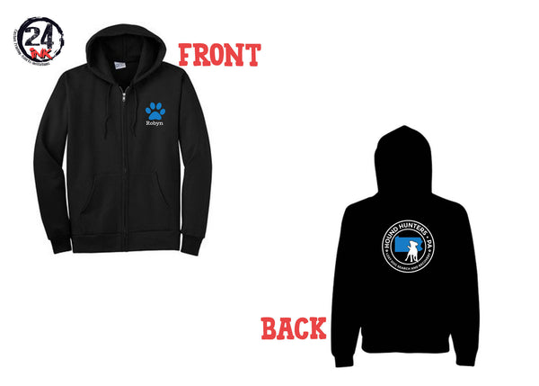 Hound Hunters Zip up Sweatshirt