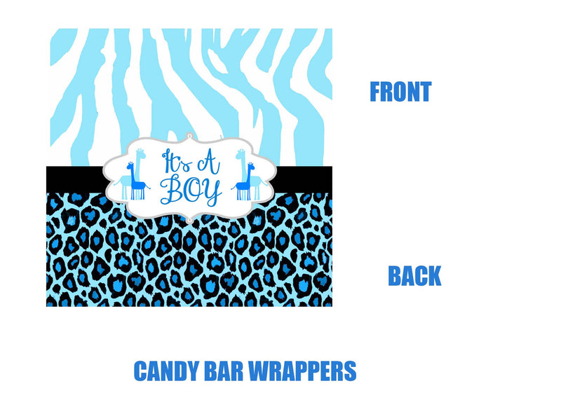animal print candy bar wrappers