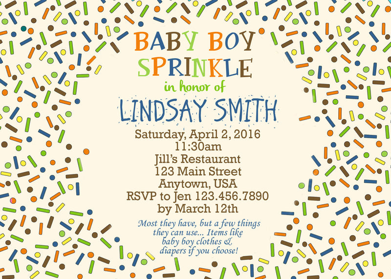 baby shower sprinkle invitation
