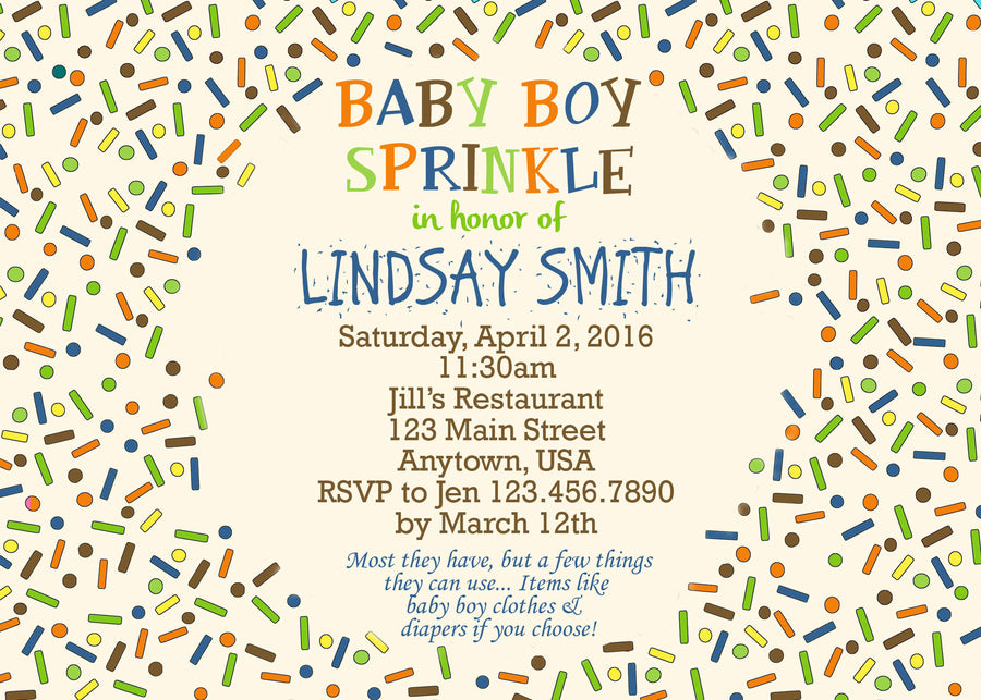 Baby Sprinkle Invitation – Jills Creative Creations