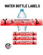 Cheerleading water bottle labels, Graduation