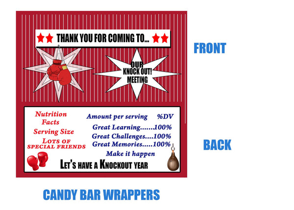 Boxing Candy Bar Wrappers