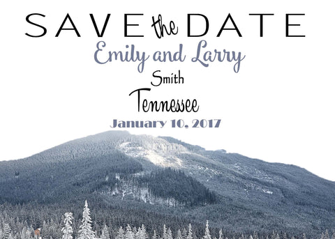 Save the Date, Mountains