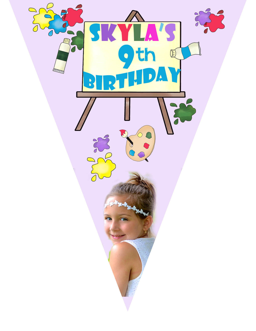 Painting Birthday Banner