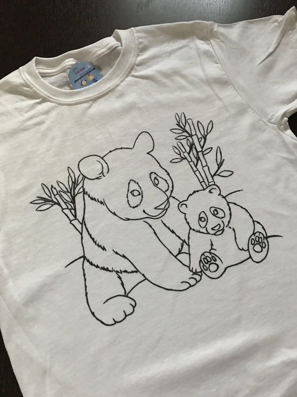 Panda Coloring T-shirt, Party Favor