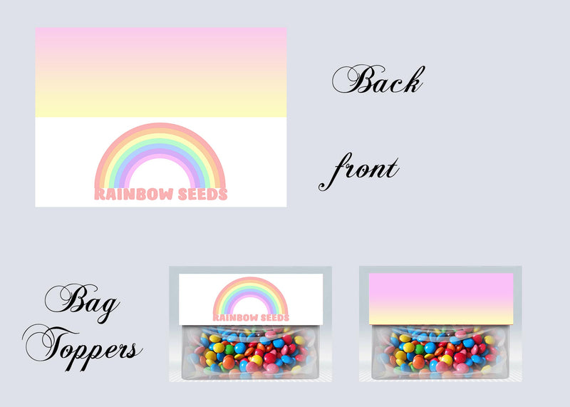 Rainbow Bag toppers, Gift tags