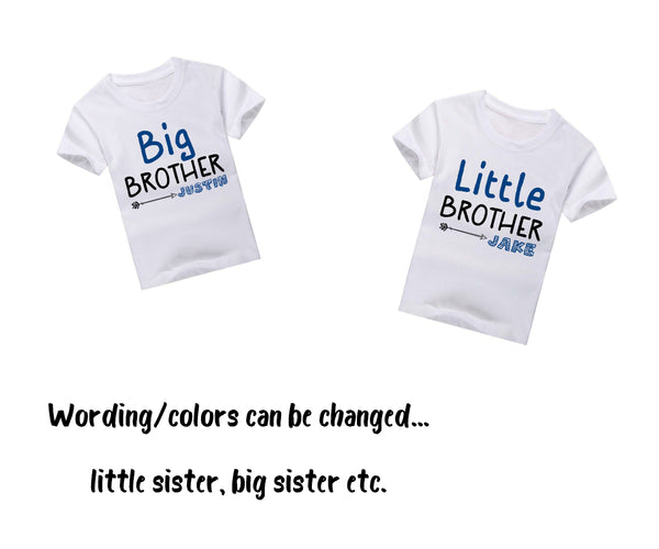 Little Brother Big Brother Shirt set, Arrows