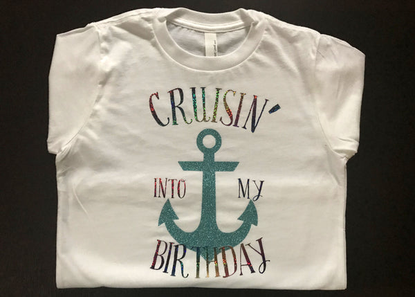 Cruise T-Shirt, Beach Birthday, Vacation, Boating