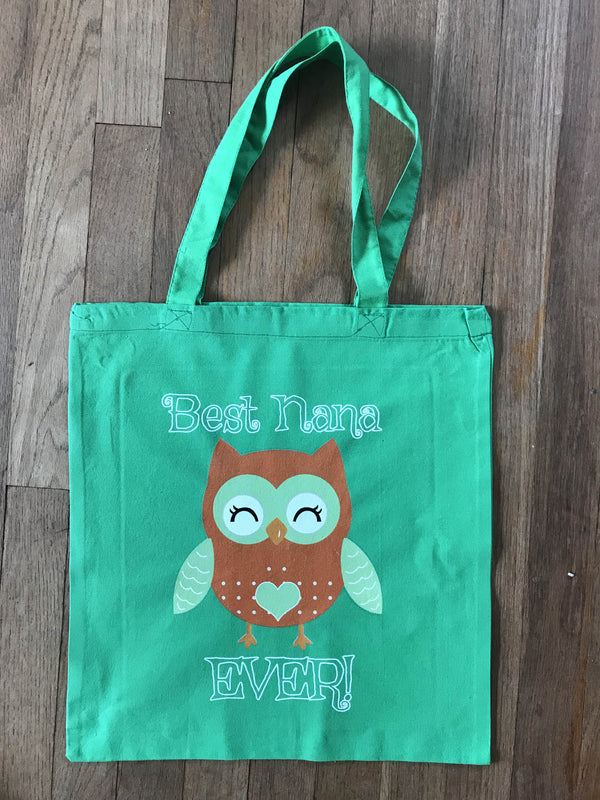 Best Nana Ever Owl Tote Bag