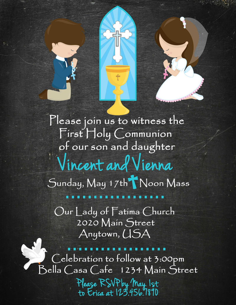 Communion Invitation, Twins