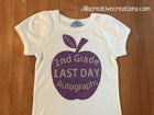 Last day of school autographs T-Shirt, apple
