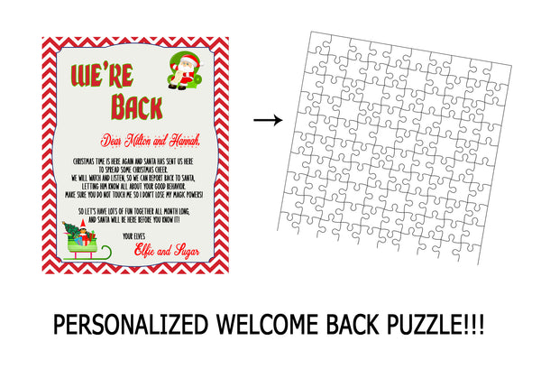 Fun Welcome back Christmas puzzle
