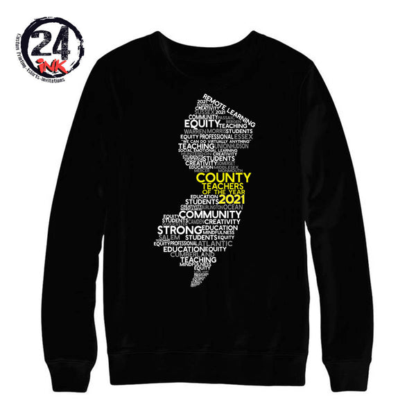Teacher of the year non hooded sweatshirt