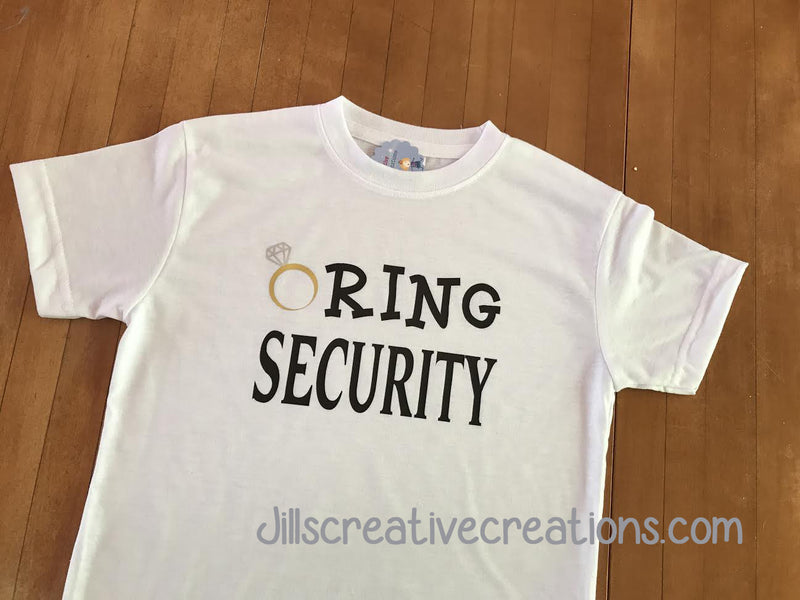 Ring Bearer T-Shirt, Ring security