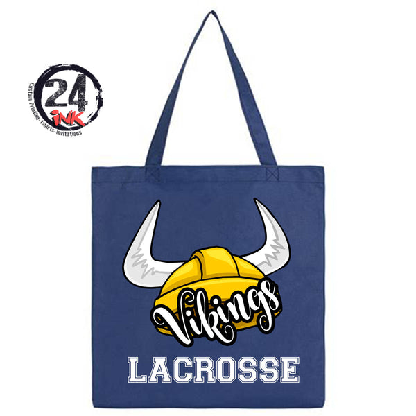 Lacrosse Viking Tote Bag