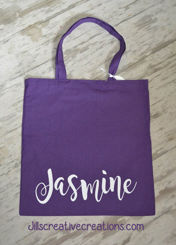 Personalized Name Tote Bag