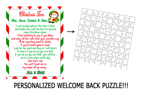 Christmas Time Welcome back puzzle