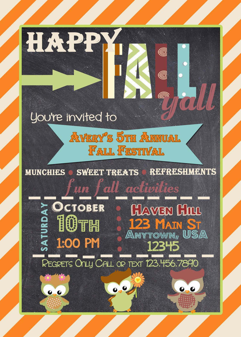 Fall Birthday Invitation