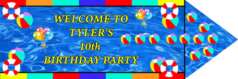 Pool Party Welcome Sign