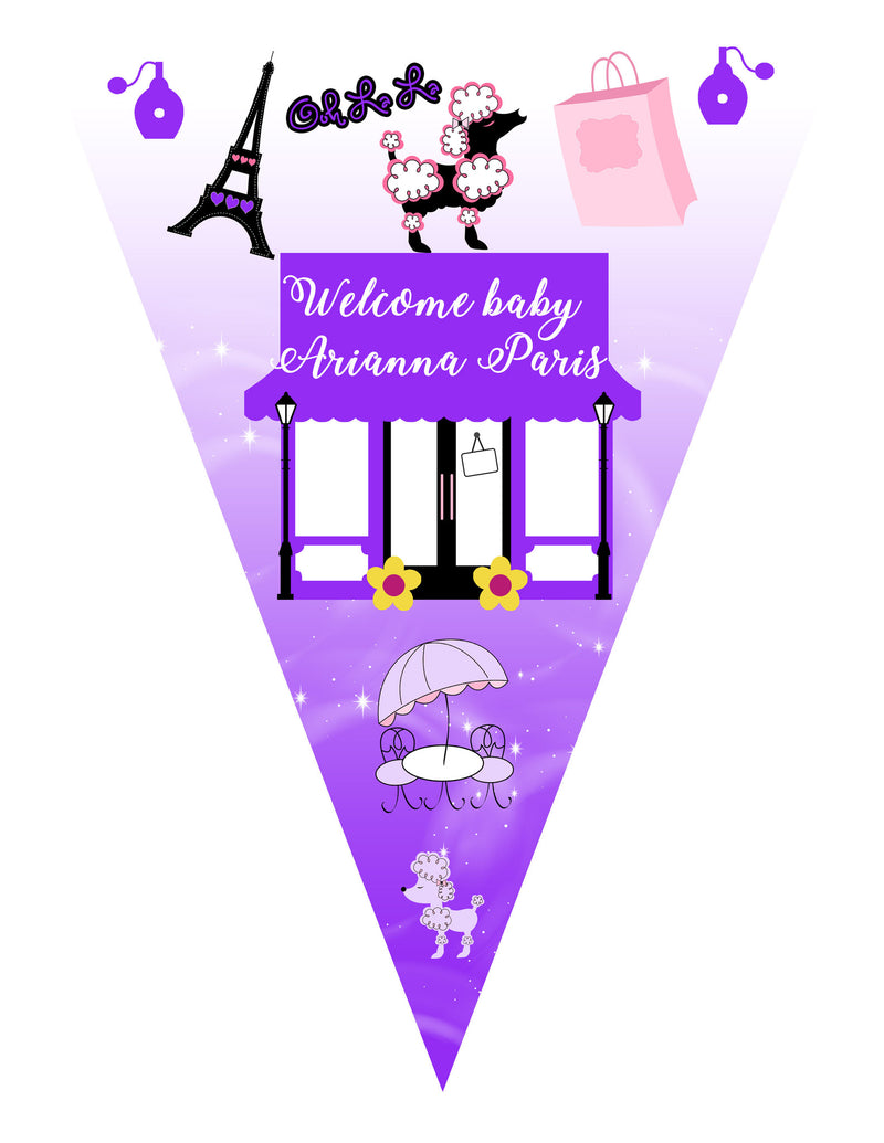Paris Theme Baby Banner