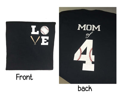 Baseball, Mom of (your players number) T-Shirt