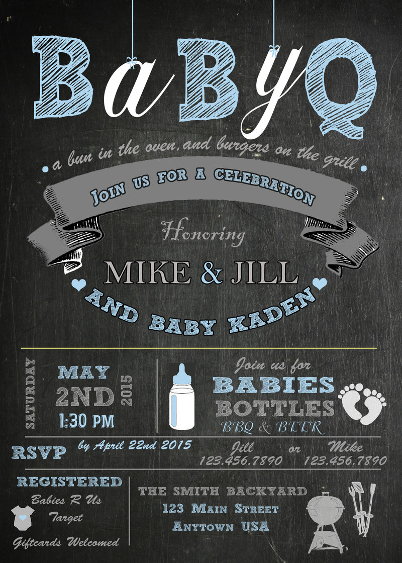 BBQ Baby Shower Invitation