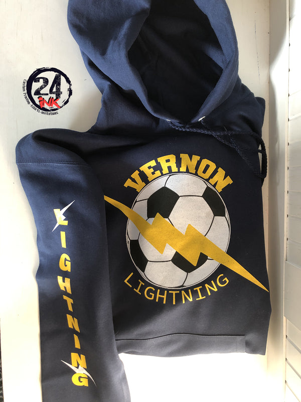 Vernon Lightning Hooded Sweatshirt